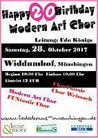 Happy Birthday Modern Art Chor 2017